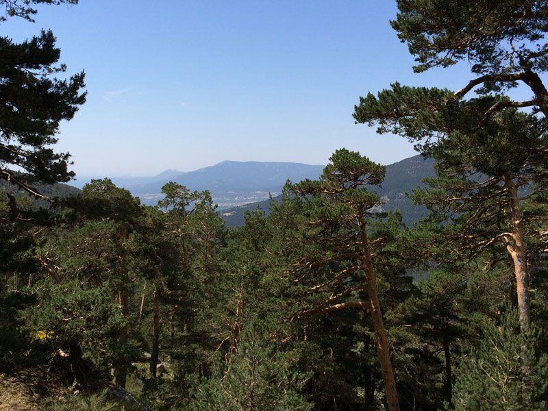Vistas del Valle de la Fuenfría y sus montañas desde la Carretera de la República