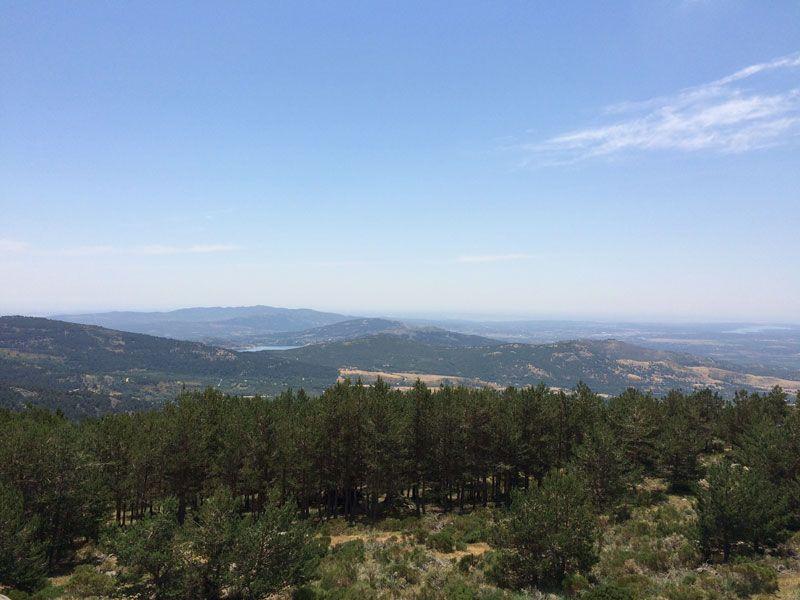 La Sierra de Guadarrama desde el Mirador de Vicente Aleixandre