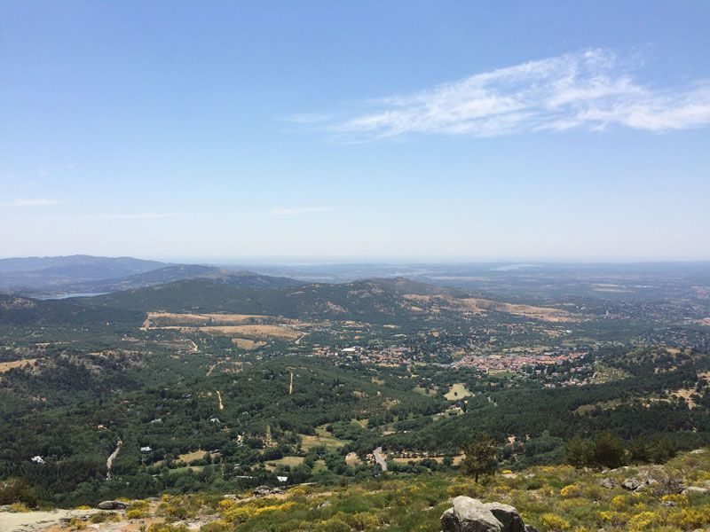 La Sierra de Madrid desde el Mirador-Refugio de Luis Rosales