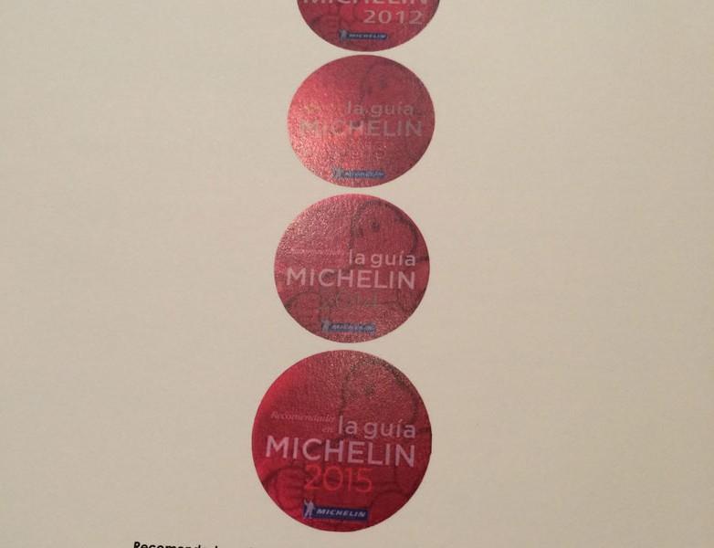 5 años recomendado en la Guía Michelin