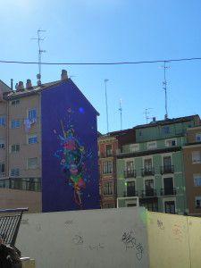 Mural en fachada. Zaragoza