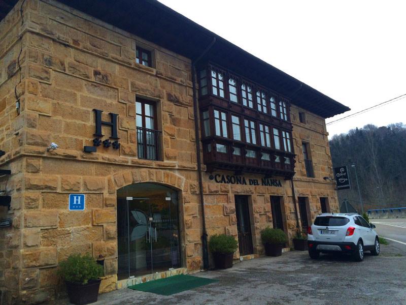 Fachada del hotel Casona del Nansa