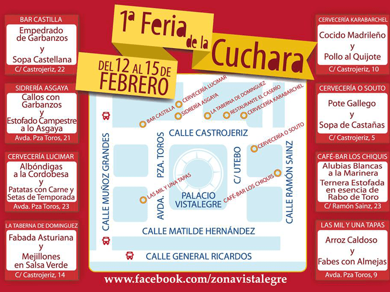 Mapa de la Feria de la Cuchara de Carabanchel