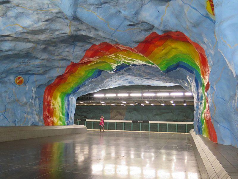 Las estaciones más boitas del metro de Estocolmo - Stadion