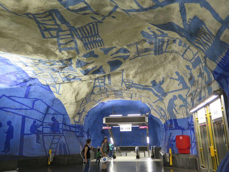 Las estaciones más boitas del metro de Estocolmo - T-Centralen