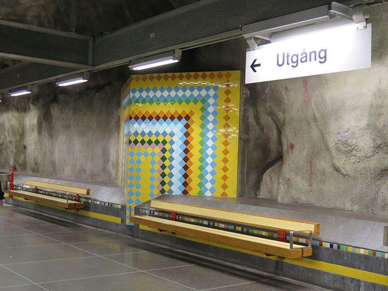 Las estaciones más boitas del metro de Estocolmo - Västra skogen