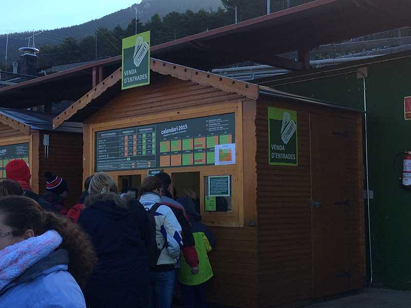 Tobotronc Andorra - Caseta para comprar las entradas al Tobotronc