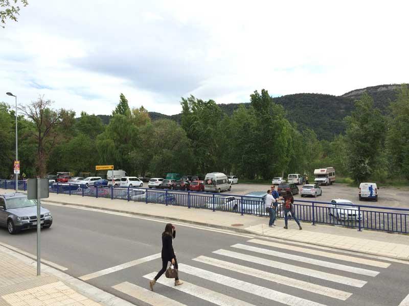 Qué ver en Ainsa - Parking público de Ainsa