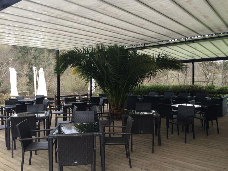 Terraza del hotel Casona del Nansa