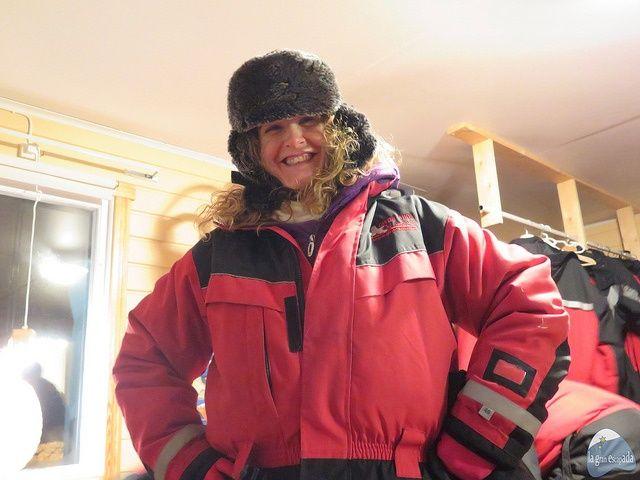 Vestidos para no pasar frío en la experiencia con el pueblo Sami