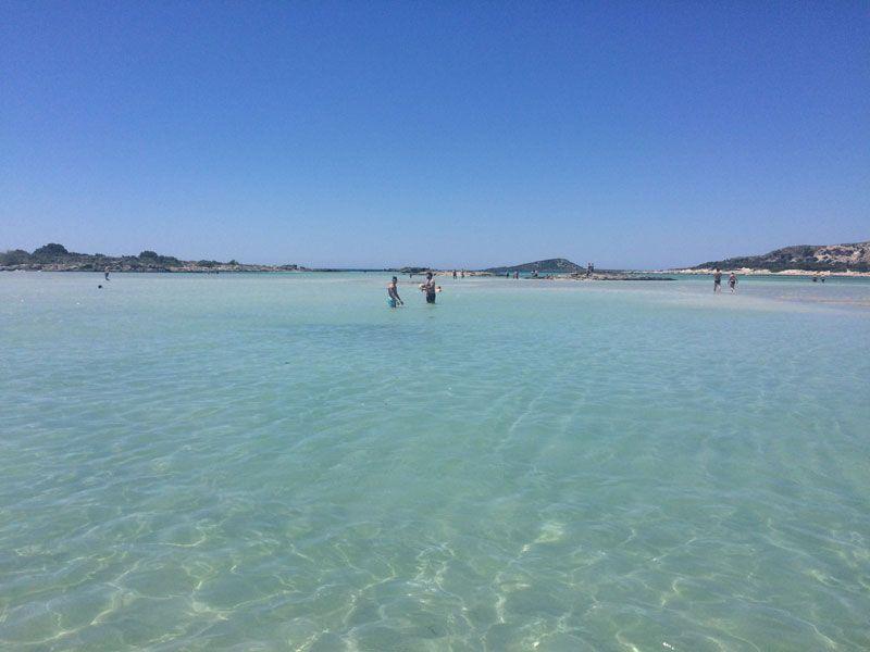 Aguas color turquesa en la playa de Elafonisi