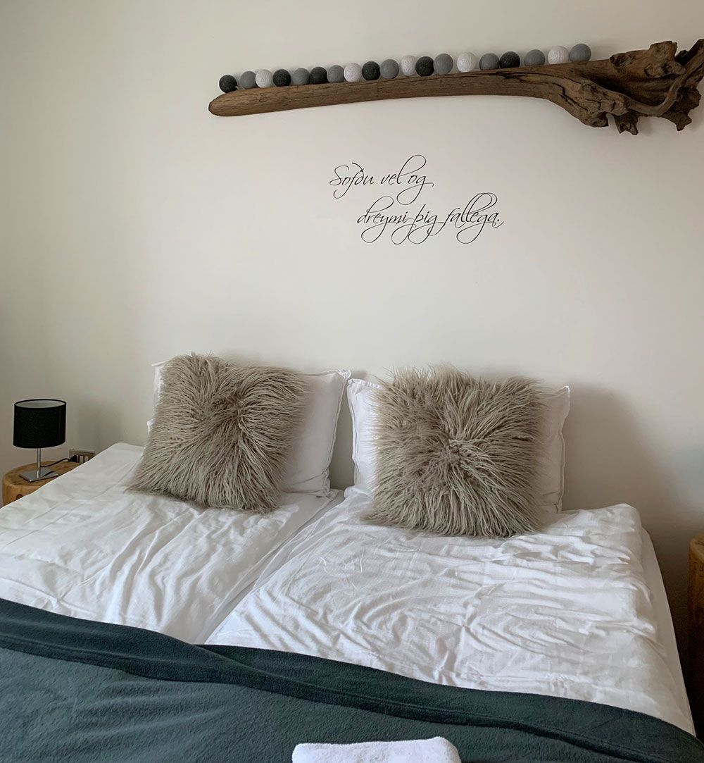 Alojamiento en Islandia - Guesthouse Galleri Vík - Cama