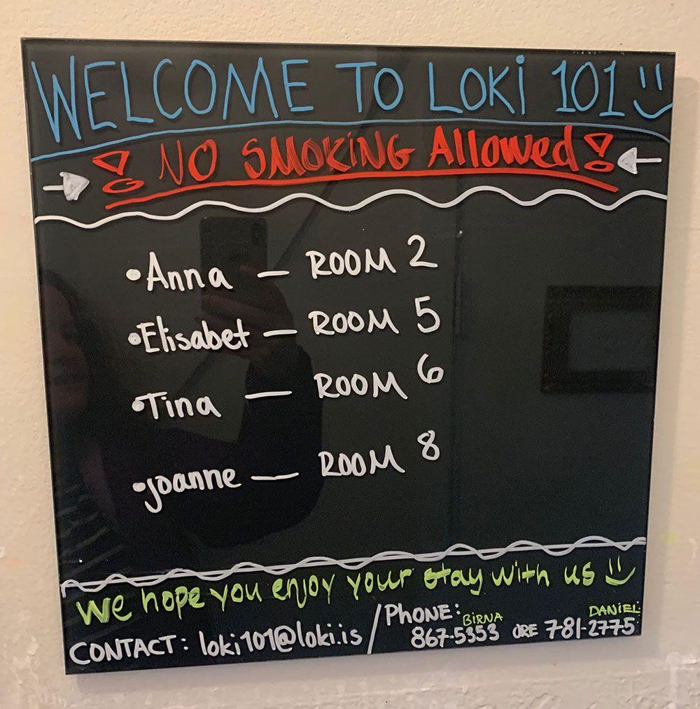 Alojamiento en Islandia - Loki Guesthouse - Biemvenida