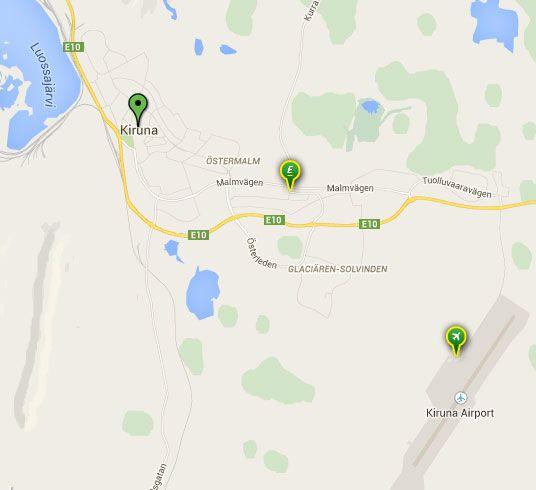 Oficinas de Europcar para alquilar un coche en Kiruna