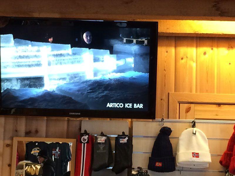 Ártico Ice Bar - Proyección del vídeo