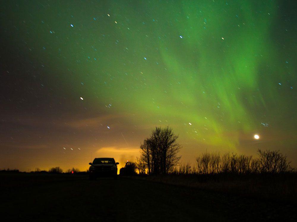 Aurora Boreal sobre Canadá