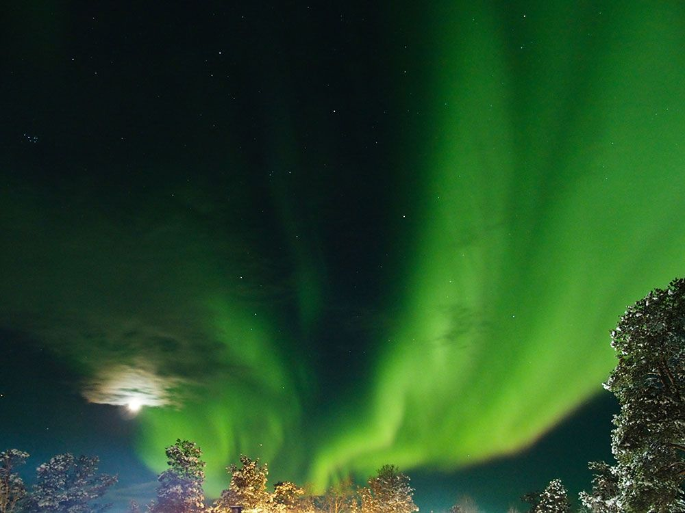Aurora Boreal sobre Finlandia