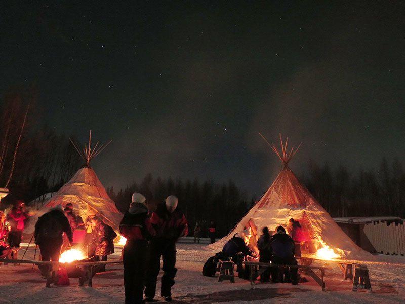 Auroras Boreales en Rovaniemi - Campamento