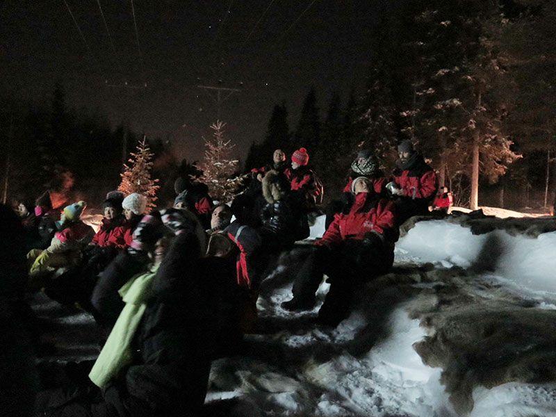 Auroras Boreales en Rovaniemi - Gente expectante