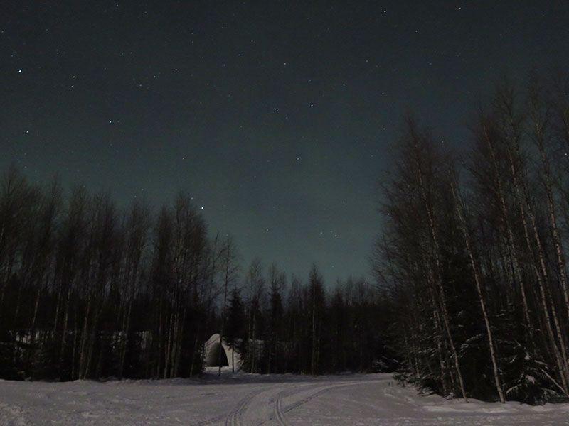 Auroras Boreales en Rovaniemi - Leves reflejos