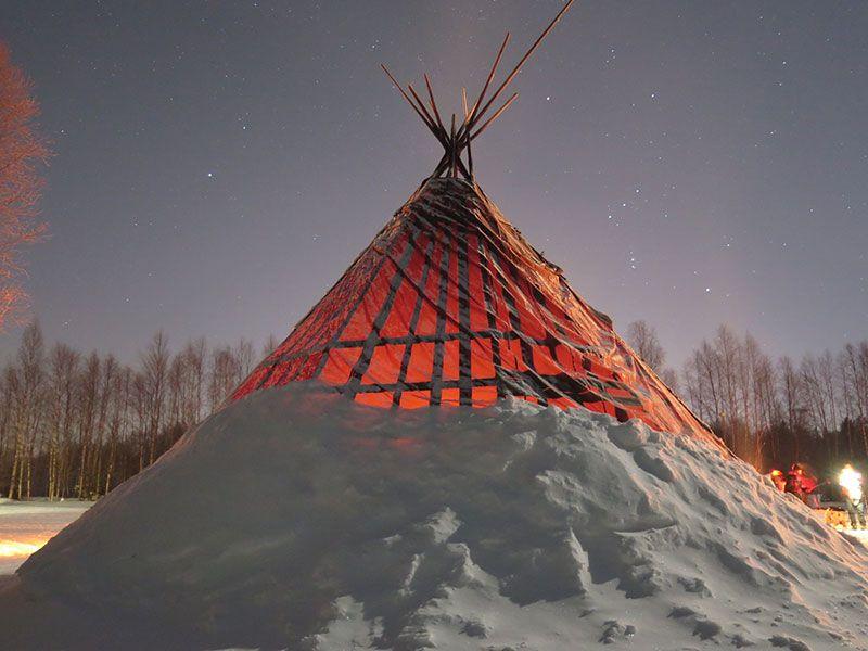 Auroras Boreales en Rovaniemi - Lavvú