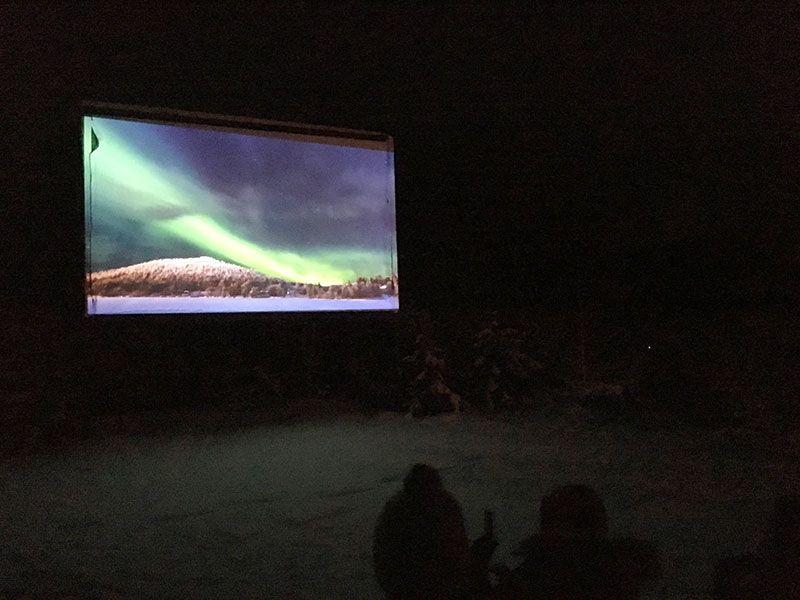 Auroras Boreales en Rovaniemi - Cine de invierno