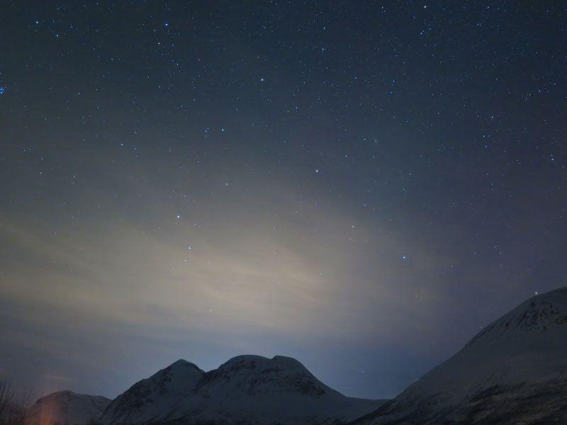 Auroras boreales en Tromsø - Cielo despejado
