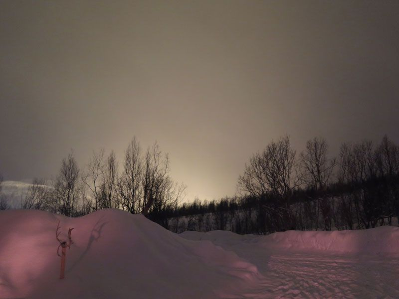 Auroras Boreales en Tromsø - Cielo nublado