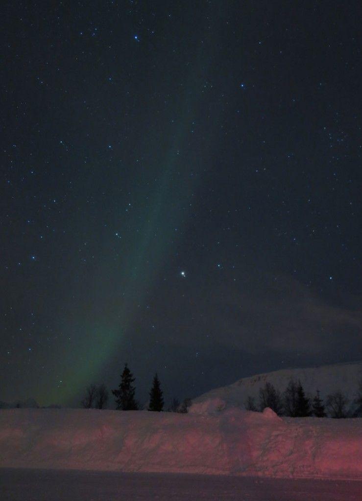 Auroras Boreales en Tromsø - Aurora Boreal en vertical