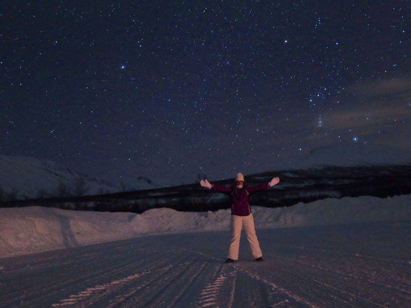 Auroras Boreales en Tromsø - Magnífico cielo estrellado