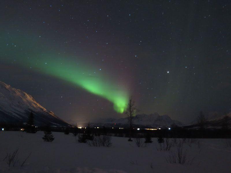 Auroras Boreales en Tromsø - Aurora Boreal más intensa