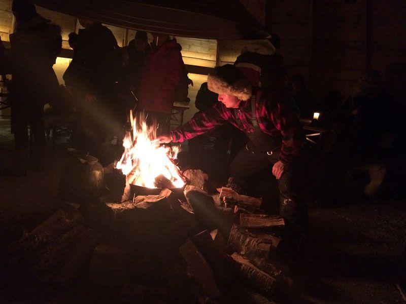 Auroras Boreales en Tromsø - Un Sami local nos prepara la cena