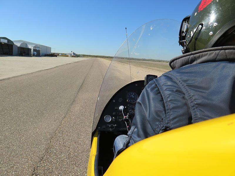 Iniciando el despegue en Autogiro. Autogiro Madrid