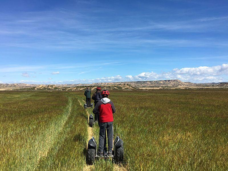 Bardenas Reales en segway - Navarra - Recorremos los campos de cereal