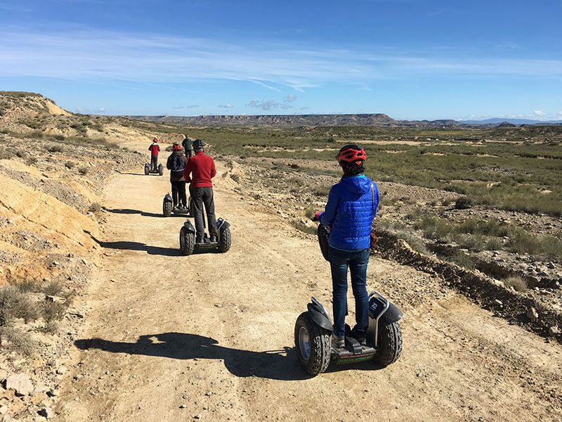 Bardenas Reales en segway - Navarra - Comenzamos ruta