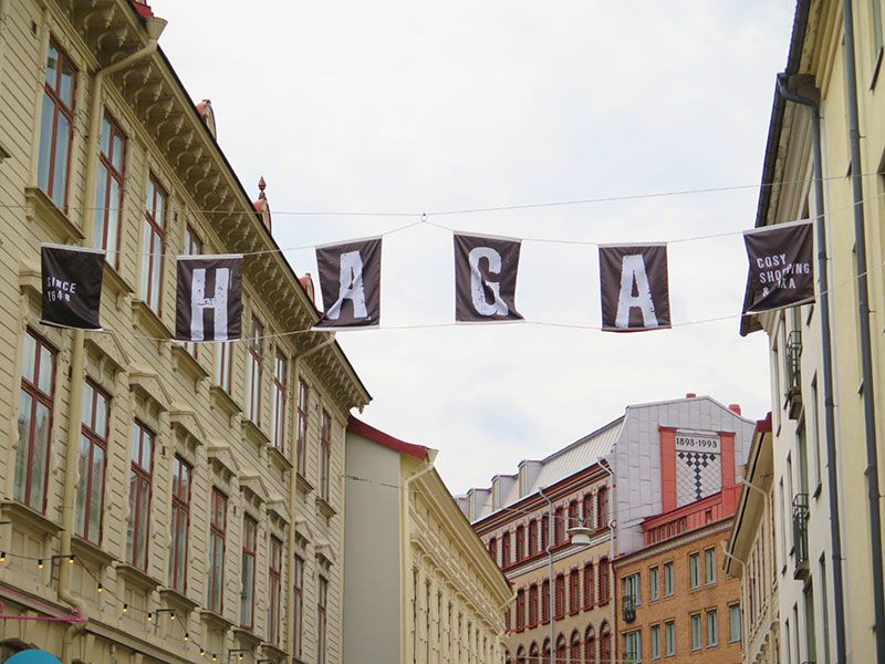 Barrio Haga - Gotemburgo - Letrero