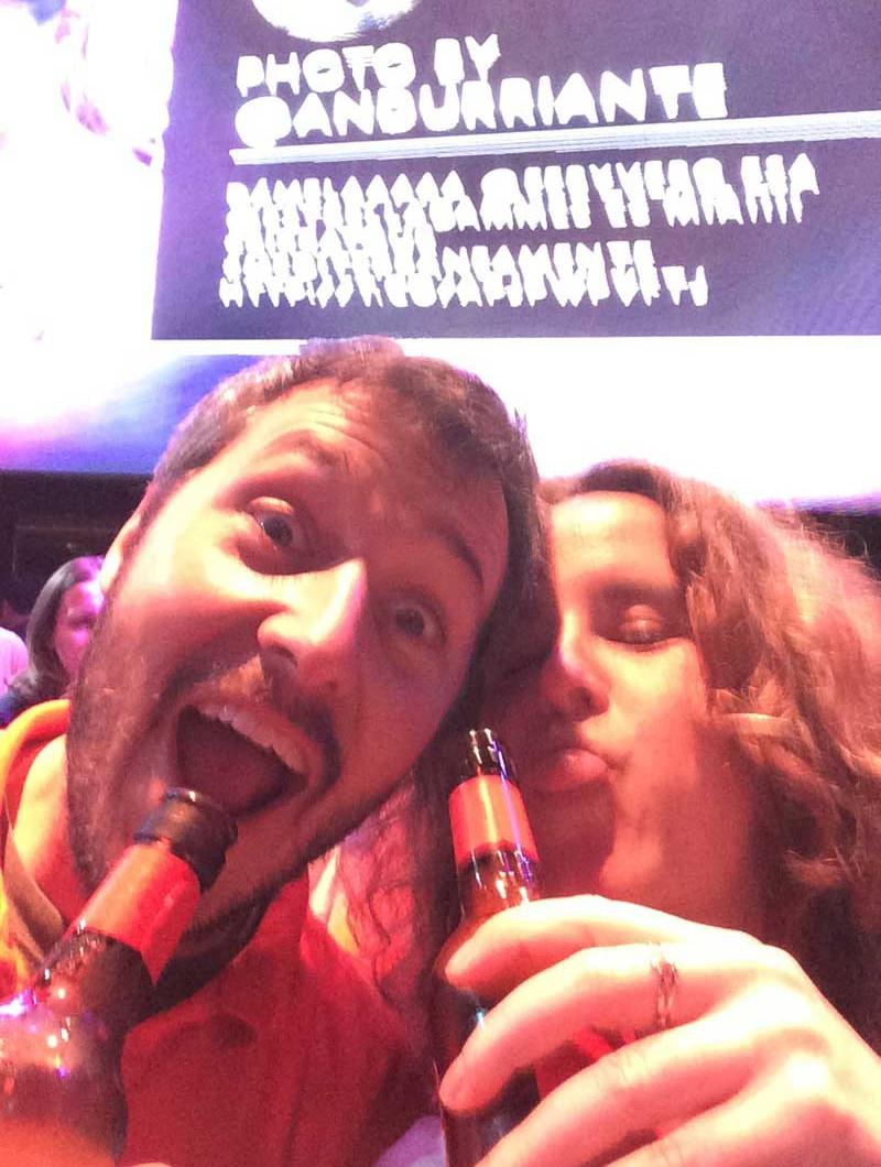 Selfie de Álvaro (Malévolo) y Eli