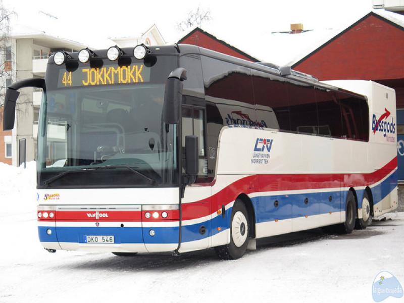 Bus 44 para ir a Jokkmokk desde Gällivare