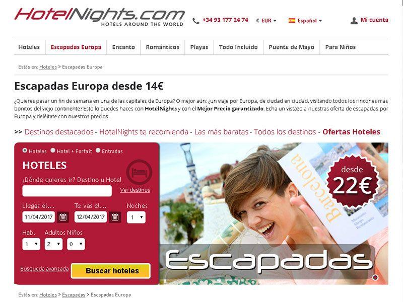 El buscador de hoteles HotelNights tien