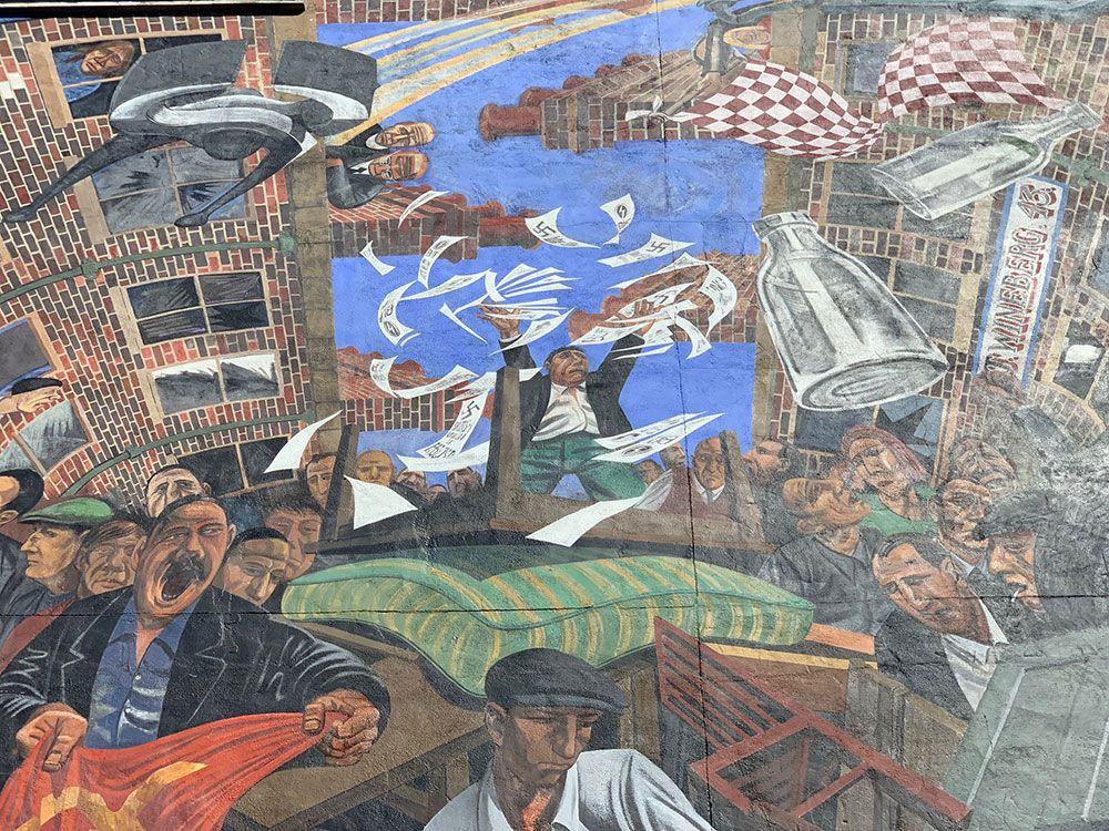Detalle del Cable Street Mural