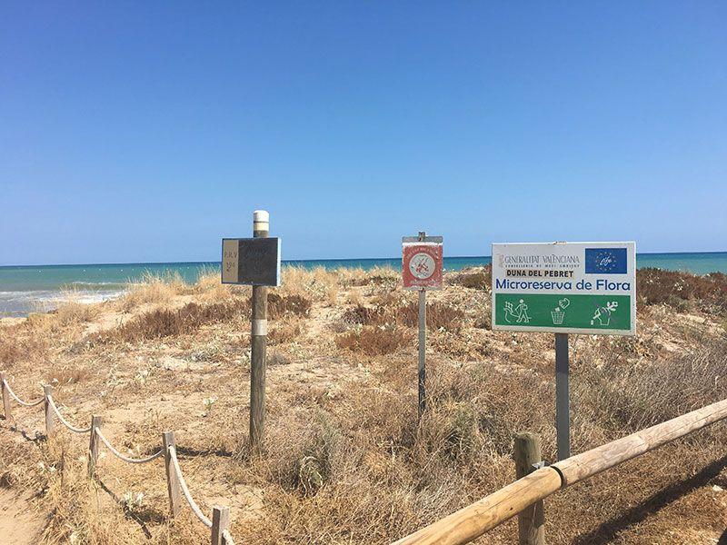Calas y playas de peñíscola - Duna del Pebret