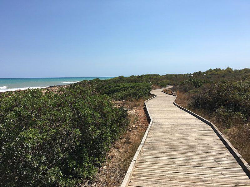 Calas y playas de peñíscola - Senda acondicionada