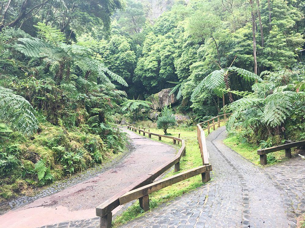 Caldeira Velha - São Miguel - Islas Azores - Senderos