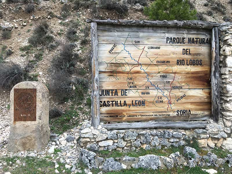 Cañón del Río Lobos - Km 0 de la ruta de senderismo Senda del Río