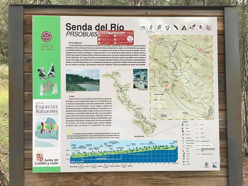 Cañón del Río Lobos - Ruta de senderismo Senda del Río