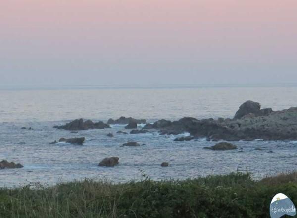 La costa a sólo 50 metros