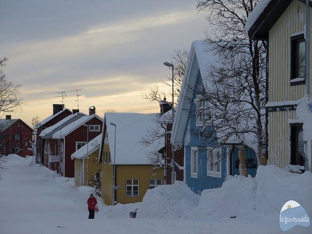 Casitas de colores de Kiruna