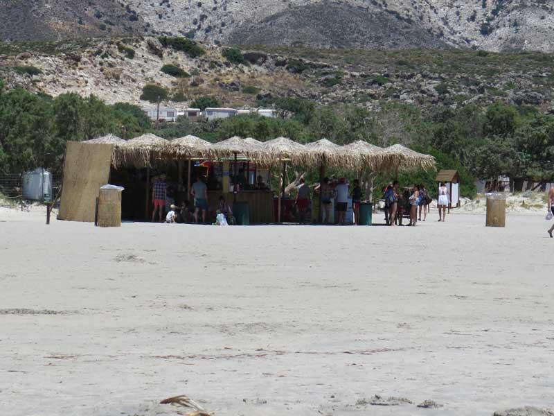 Chiringuito de la playa de Elafonisi