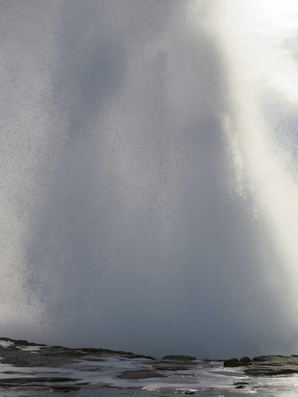 Columna de agua hirviendo