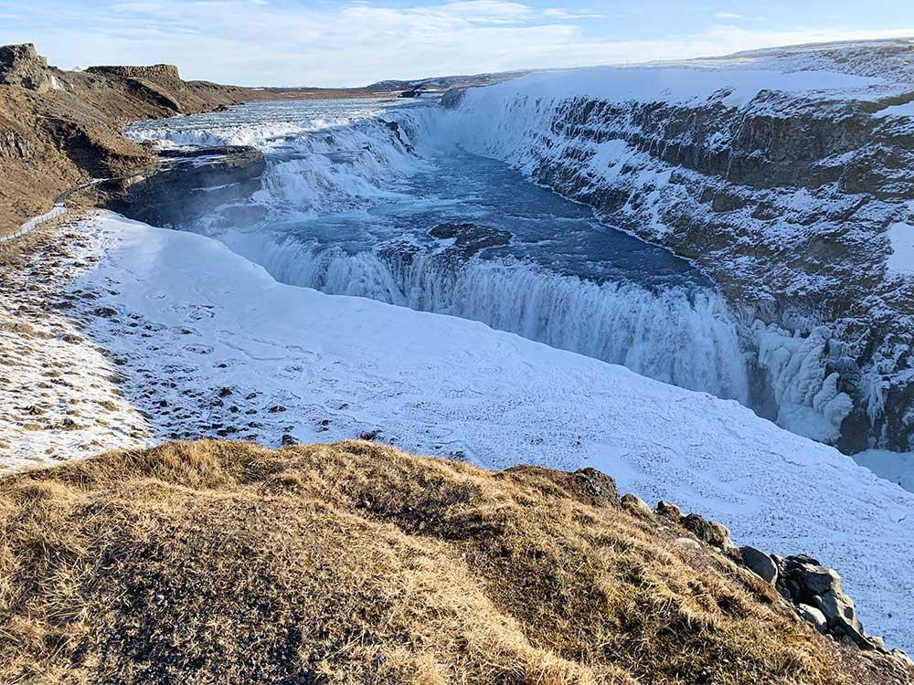 Círculo Dorado de Islandia - Cascada Gullfoss